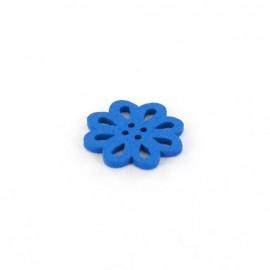 Wooden Button, Casablanca - blue