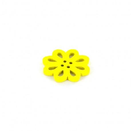 Wooden Button, Casablanca - yellow
