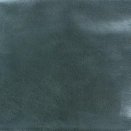 Faux soft leather - metallic blue x 10cm