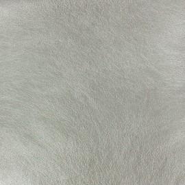 Faux soft leather - metallic silver x 10cm