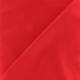 Tissu voile de coton rouge x 10cm