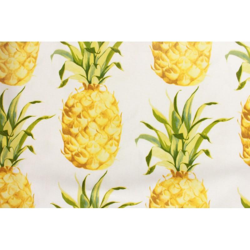 tissu enduit vernis ananas tropical x 30cm ma petite. Black Bedroom Furniture Sets. Home Design Ideas
