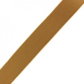 Two-tone woven strap x 50 cm - butterscotch/beige