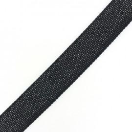 Two-tone woven strap x 50 cm - black/white