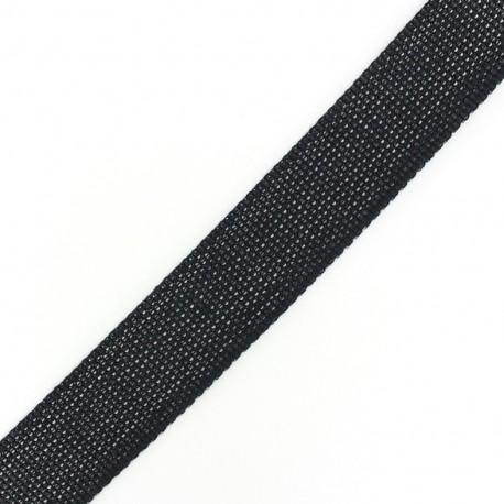 Sangle Tissée bicolore noir/ blanc x 1 m