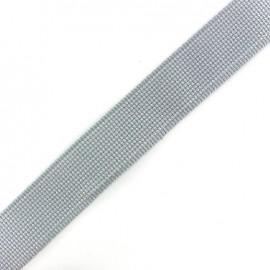 Two-tone woven strap x 50 cm - grey/white