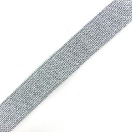 Sangle Tissée bicolore gris/ blanc x 1 m