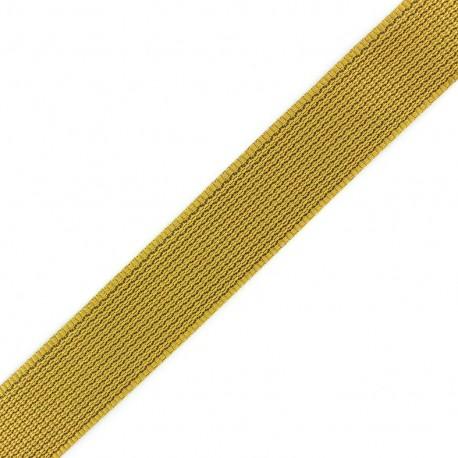 Sangle Tissée bicolore moutarde/ beige x 1 m