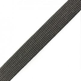 Sangle Tissée trio noir/ gris / écru x 50 cm