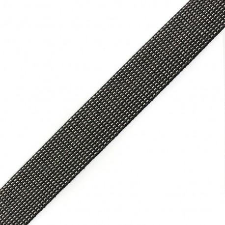 Sangle Tissée trio noir/ gris / écru x 1 m