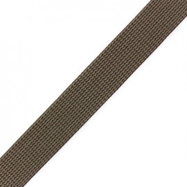 Cotton woven strap x 50 cm - brown/hazelnut/sage green