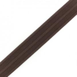 Cotton woven strap x 50 cm - brown