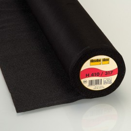 H410 Vlieseline nonwoven hot-melt canvas covering – Black x10cm