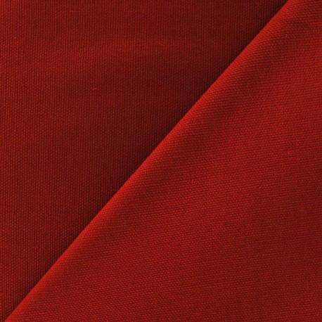 Cotton Canvas Fabric - CANAVAS Brick Red x 10cm