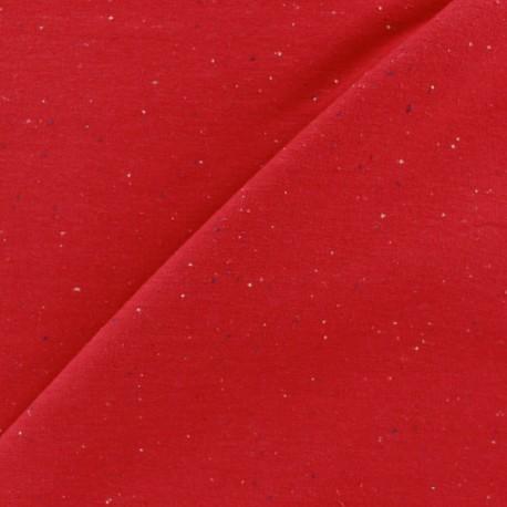 Flecked sweat fabric - red x 10cm