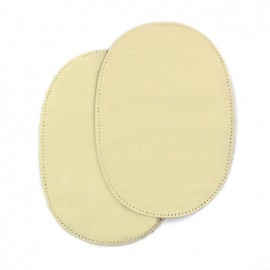 Sew-on calfleather elbow patch - natural