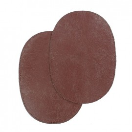 Genuine calf leather Elbow patch - burgundy