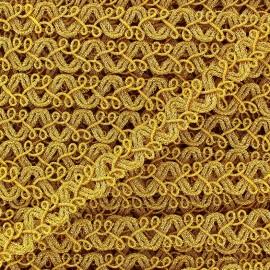 Galon brocart Baroque doré x 50cm