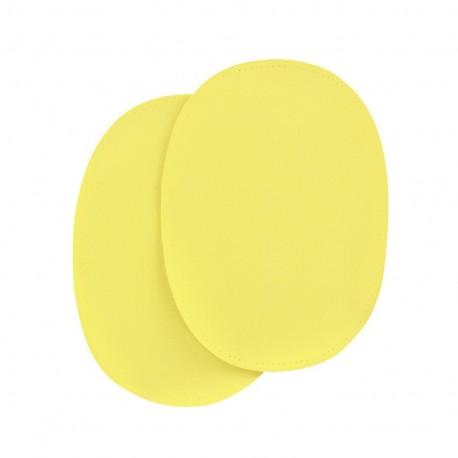 Sew-on vinyl elbow patch - yellow