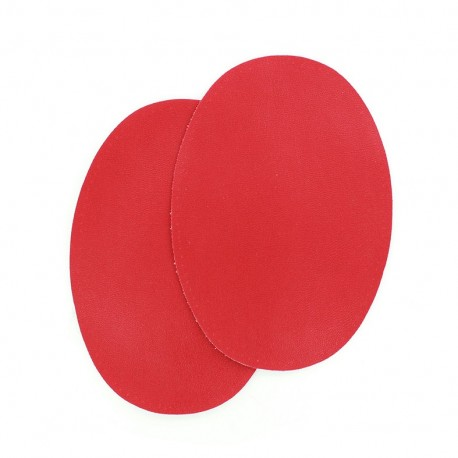 Sew-on Vinyl elbow patch - red