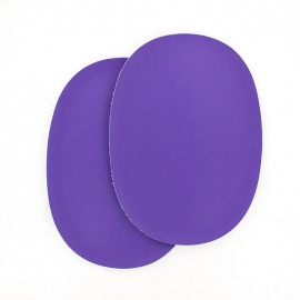 Sew-on Vinyl elbow patch - purple