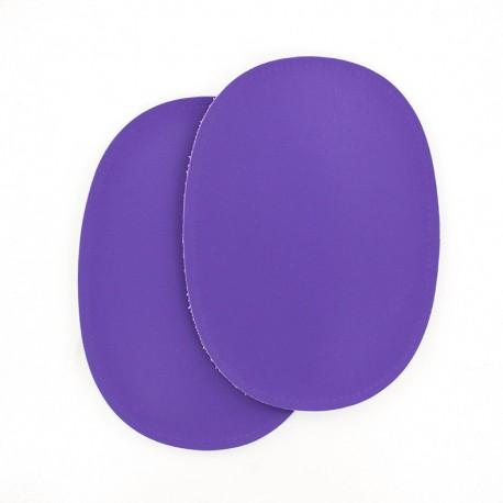 Sew-on Vinyl elbow patch - purple