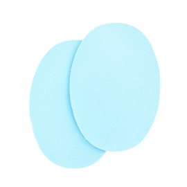 Sew-on Vinyl elbow patch - sky blue