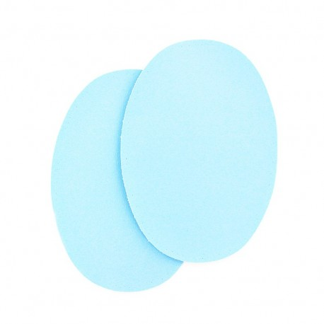 Sew-on Vinyl elbow patch - sky blue