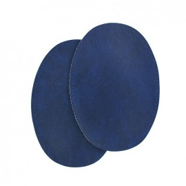 Sew-on Vinyl elbow patch - navy blue