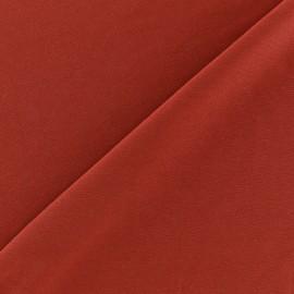Tissu Lycra uni Brique finition mat x 10cm