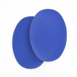 Sew-on Vinyl elbow patch - royal blue