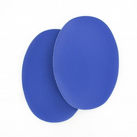 Sew-on Vinyl elbow patch - royal blue