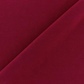 ♥ Coupon 80 cm X 150 cm ♥  Tissu Lycra uni Carmin finition mat