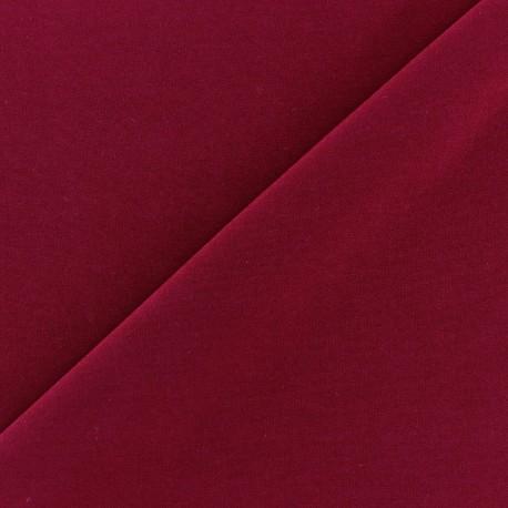 mat lycra fabric - carmine x 10cm