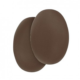 Sew-on vinyl elbow patch - brown