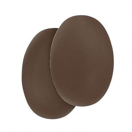 Sew-on vinyl elbow patch - brown