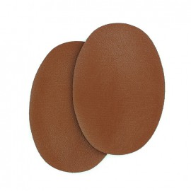 Sew-on vinyl elbow patch - chocolate
