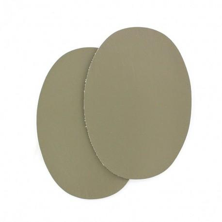 Sew-on Vinyl elbow patch - lovat green