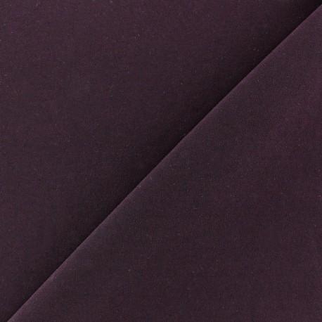 Tissu Lycra uni Violet foncé finition mat x 10cm