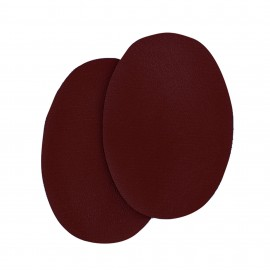 Sew-on Vinyl elbow patch - burgundy