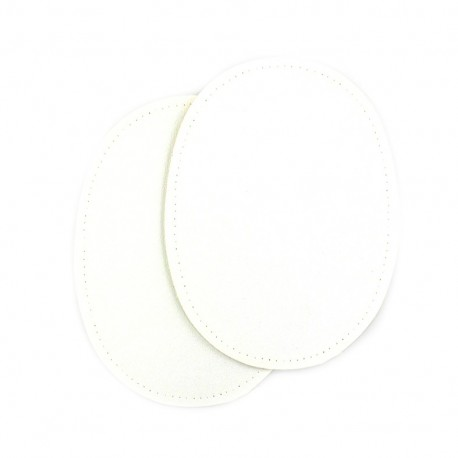 Sew-on Vinyl elbow patch - white