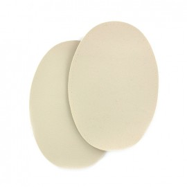 Sew-on Vinyl elbow patch - light beige