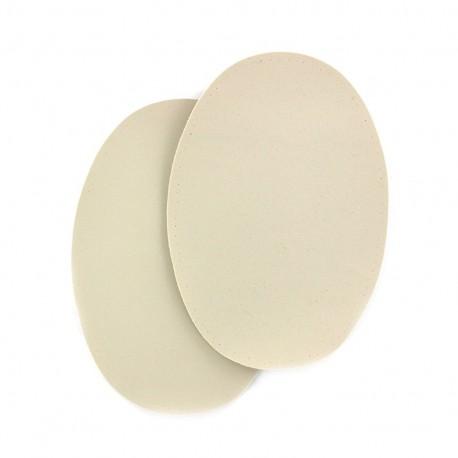 Sew-on Vinyl elbow patch - light beige