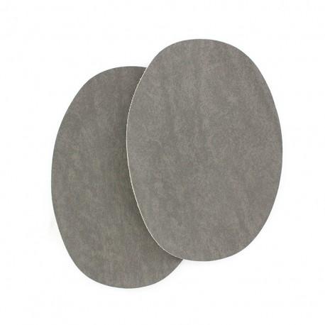 Sew-on Vinyl elbow patch - grey
