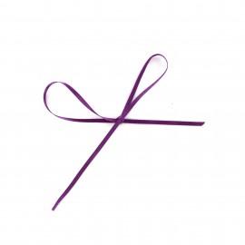 Comete Satin ribbon 3mm - violine