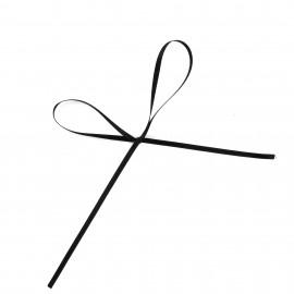 Comete Satin ribbon 3mm - black