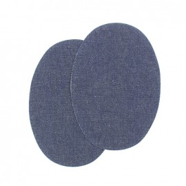 Sew-on Vinyl elbow patch - dark denim