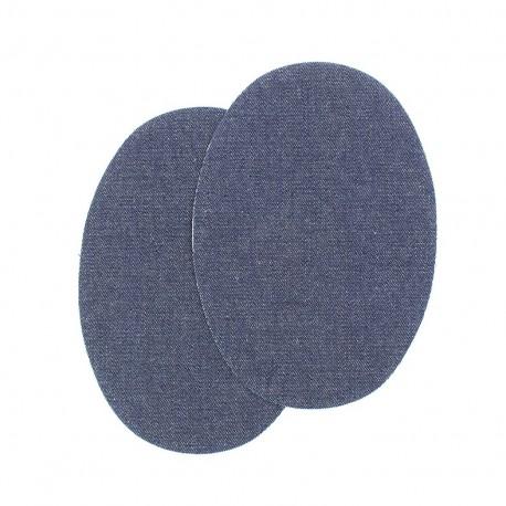 Sew-on Vinyl elbow patch - dark denim