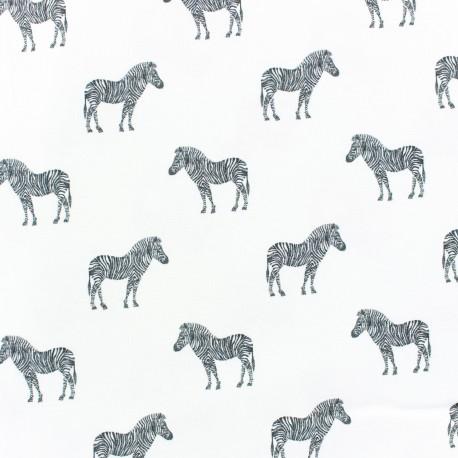 Cotton fabric Zèbre - seagreen x 10cm