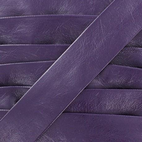 Imitation leather bias binding, Cuero 20 mm - purple